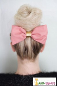 DIY A Pink Hair Bow Clip For You Or Your Daughter