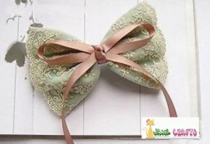 DIY Lace Chiffon Hair Bow Clip