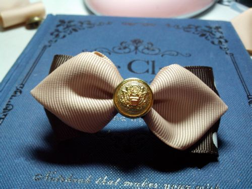 How to make a hair bow clip with temperament