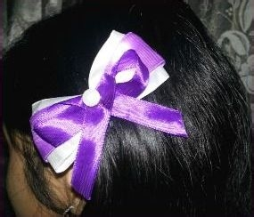 How to make a layered and fashionable hair bow clip
