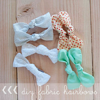How To Make A Fabric Hair Bow Clip For Baby