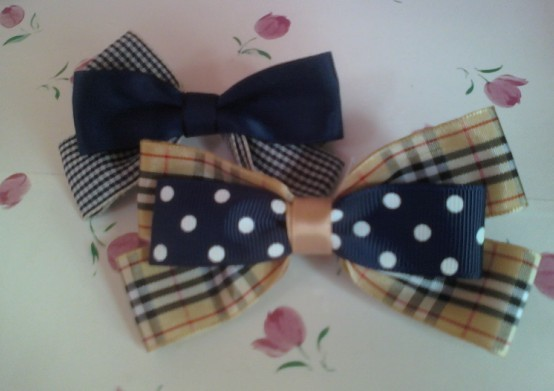 How to Make a Two Layers Hair Bow Clip of Ladystyle
