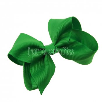 12pcs 3.5  Solid Grosgrain Chunky Boutique Hair Bows Without Clip-Emerald