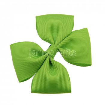12pcs 3.5  Medium Grosgrain Pinwheel Hair Bows without Clip-Apple Green