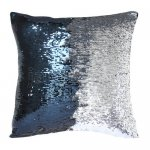 10pcs wholesale navy / silver two tone reversible sequin cushions cover pillow case