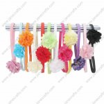 12 Sets Skinny Baby heabdnads with flowers mixed in 12 Colors