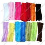 "12pcs 7"" Extra wide Baby Girl Woman Ruffle Flexsible Cotton Hair Band in 12 Colors"