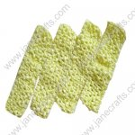 "1.5"" Crochet Headbands in Bright Lemon-12PCS"