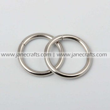 50pcs 7/8  Metal O Rings Silver Color for Webbing Strapping
