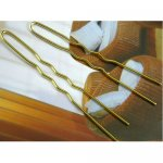 65mm Golden U Shape Hair Pins-100PCS