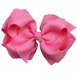 12pcs 4 inch layered boutique bow clip-hot pink