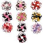 "10pcs 3"" Flower Loop Hair Bow Hairbow Assorted 10 Color"