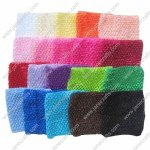 20pcs 6 Inch Extra Large Crochet Tutu Dress Headband mixed in 20 colors