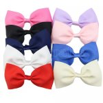 9pcs 5.5 Inch Huge Bowtie Bow Clips Mix 9 Color