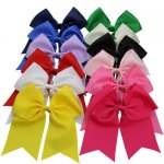 12pcs 7 Inch Huge Cheer Bow Clips Mix 12 Color