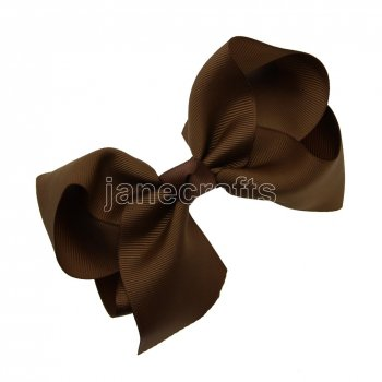 12pcs 5.5  Huge Solid Grosgrain Chunky Boutique Hair Bows With Clips-Turftan