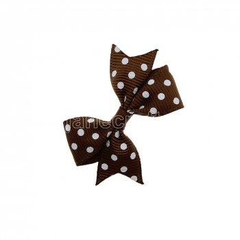 12pcs 2  Swiss Dot Spike Pigtail Hair Bow Clips-Turftan with white