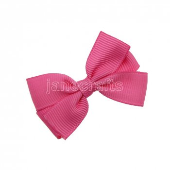 12pcs 2  Solid Pigtail Hair Bow Clips-Hot Pink