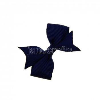12pcs 2  Solid Pigtail with Spike Hair Bows NO CLIP-Navy