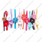 13pcs Baby Girl Headbands with Flowers mixed in 13 Colors