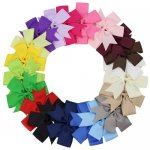 20pcs 5 Inch Big Daily Pinwheel Bow Clips Mix 20 Color