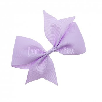 12pcs 4  Solid Pigtail with Spike Hair Bows NO CLIP-Lt Orchid
