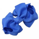 12pcs 2.5 inch layered boutique bow clip-royal