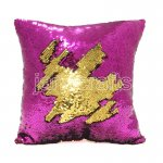 10pcs wholesale rose red / gold two tone reversible sequin cushions cover pillow case