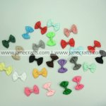 100pcs 2 inch Cute Solid Bowtie Bow Clips Random Color