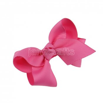 12pcs 2.5  Solid Grosgrain Chunky Boutique Hair Bows Without Clip-Hot Pink