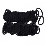 100pcs 8mm Girl Elastic Hair Ties Band Ponytail Holders Scrunchie Black