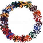 21 pcs school colors 5 inch 2 tone colors korker bow w/ lined clips mix 21 colors