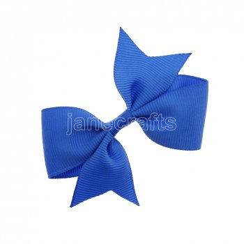 12pcs 3  Solid Pigtail with Spike Hair Bows NO CLIP-Royal