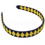 12pcs 2 tone school spirit ribbon woven headband