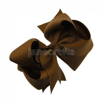 12pcs 4  Double Layer Grosgrain Boutique Chunky Hair Bows With Clips-Turftan