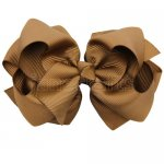 12pcs 4 inch layered boutique bow clip-turftan