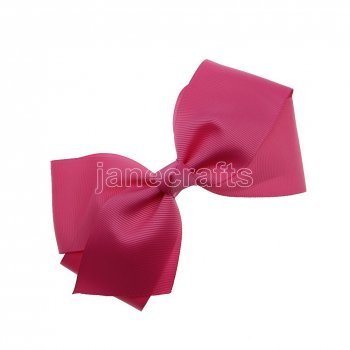 12pcs 6  Huge Solid Boutique Hair Bow No Clips-Hot Pink