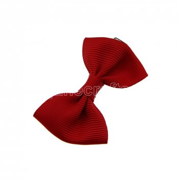 12pcs 2  Mini Solid Bowtie Hair Bow No Clip-Poppy Red