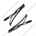 60mm Black Painted Bean Shape Snap Clips-50PCS