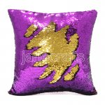 10pcs wholesale purple / gold two tone reversible sequin cushions cover pillow case