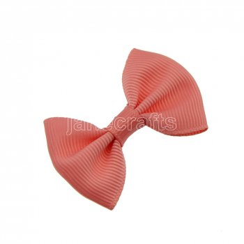 12pcs 2  Mini Solid Bowtie Hair Bow Clips-Lt Coral