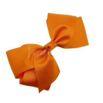 12pcs 6  Huge Solid Boutique Hair Bow No Clips-Gold