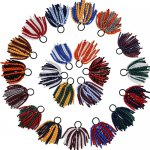 21 pcs school colors 6 inch long 2 tone colors korker bow w/ pony tail holder mix 21 colors