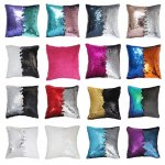 SAMPLE PACK- 15 COLORS two tone reversible sequin cushions cover pillow case