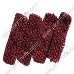 "1.5"" Crochet Headbands in Wine Red-12PCS"