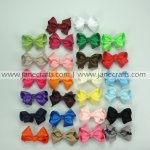 100pcs 2.5 inch Solid Small Cute Chunky Bow Clips Random Color
