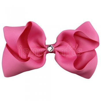 12pcs 4 inch bling center boutique bow clip-hot pink
