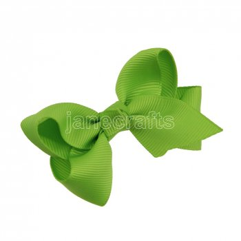 12pcs 2.5  Solid Grosgrain Chunky Boutique Hair Bows Without Clip-Apple Green