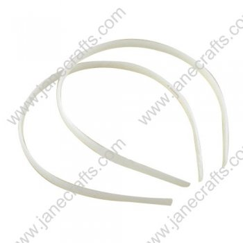 WHOLESALE 15MM 5/8  White Plastic Headband No Teeth-120pcs