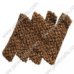 "1.5"" Crochet Headbands in Brown-12PCS"